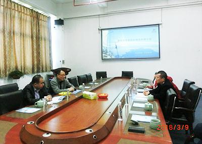 中国基金公司总裁周里洋先生莅临园区东泰国际物流参观,洽谈合作