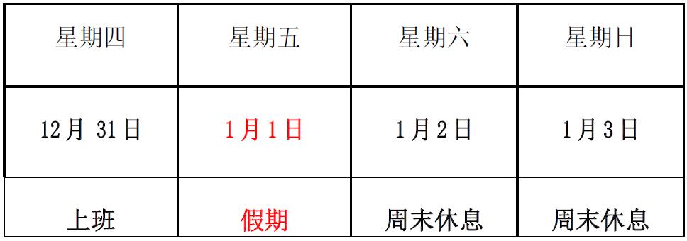 关于2021 年元旦放假的通知-深圳市洺诚国际物流